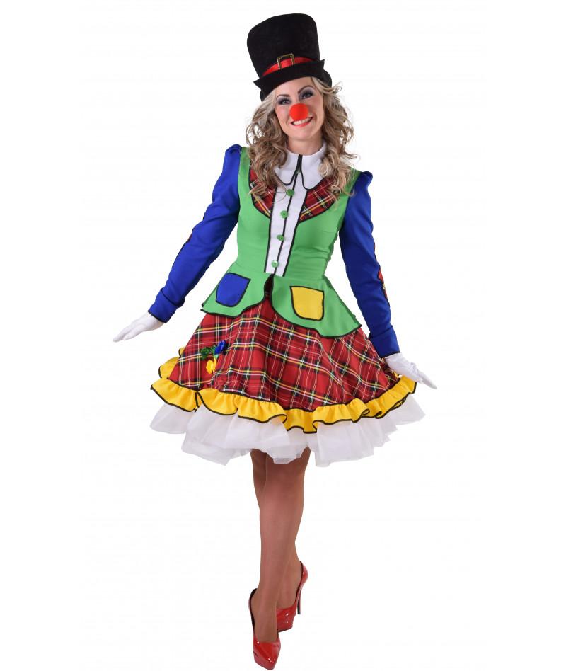 Donna clown scozzese
