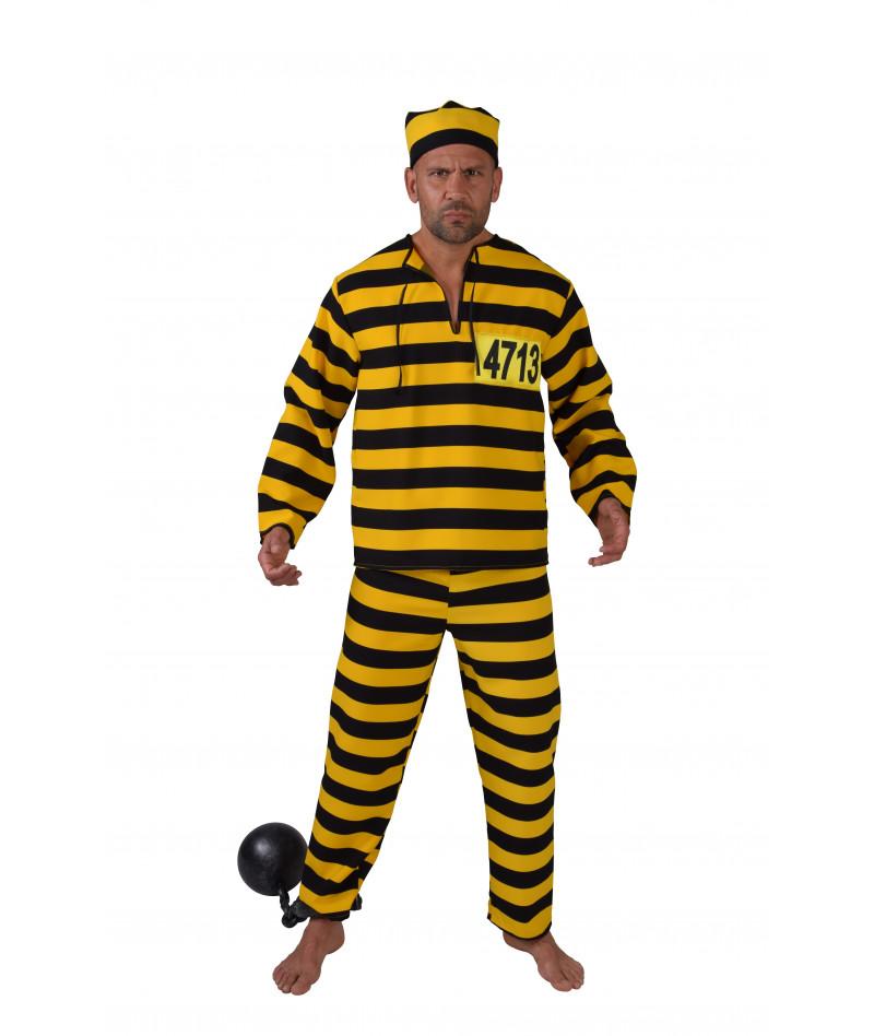 Divisa carcerato giallo e nera