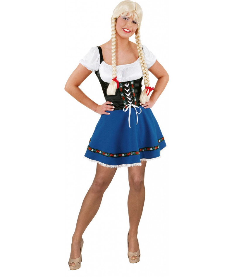 Baverese dirndl mini blu