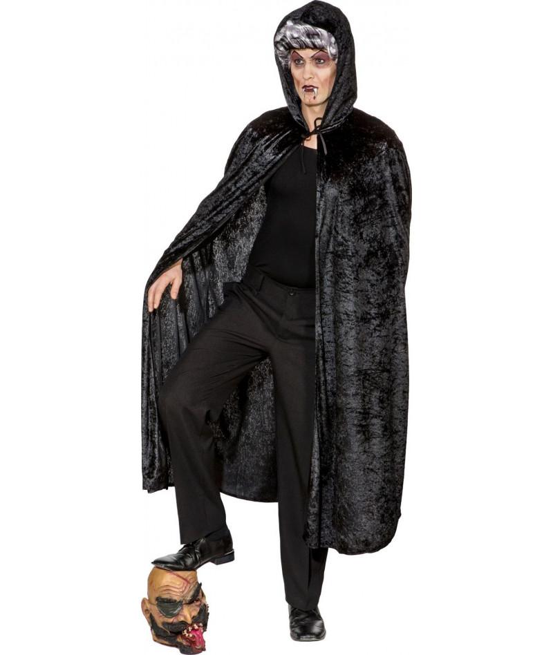 Mantello di velluto nero