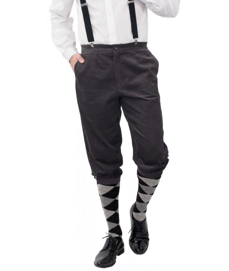 Pantaloni al ginocchio grigi