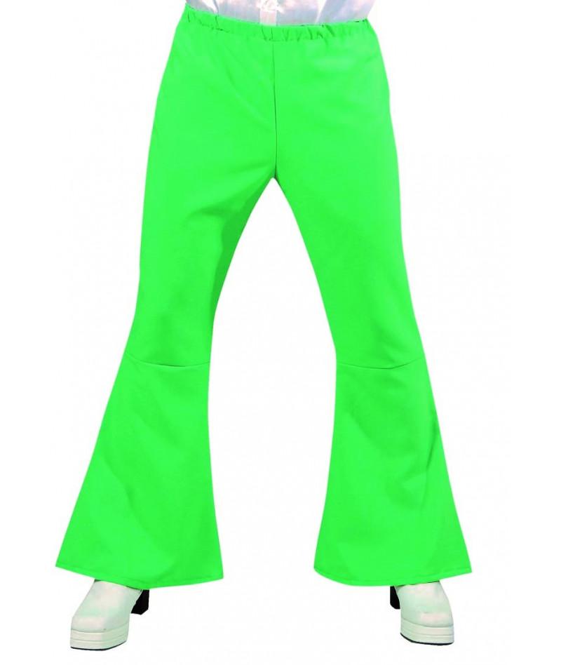 Pantaloni hippy '70 verdi