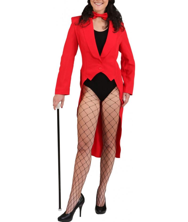 Frac cabaret rosso donna