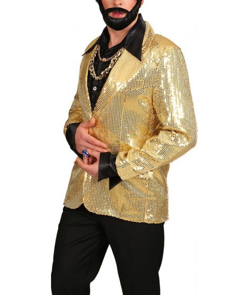 Giacca paillettes oro uomo