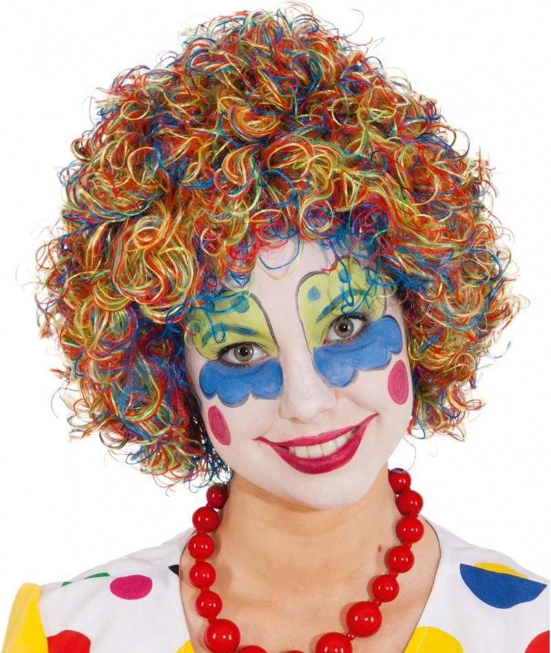 Parrucca clown arcobaleno