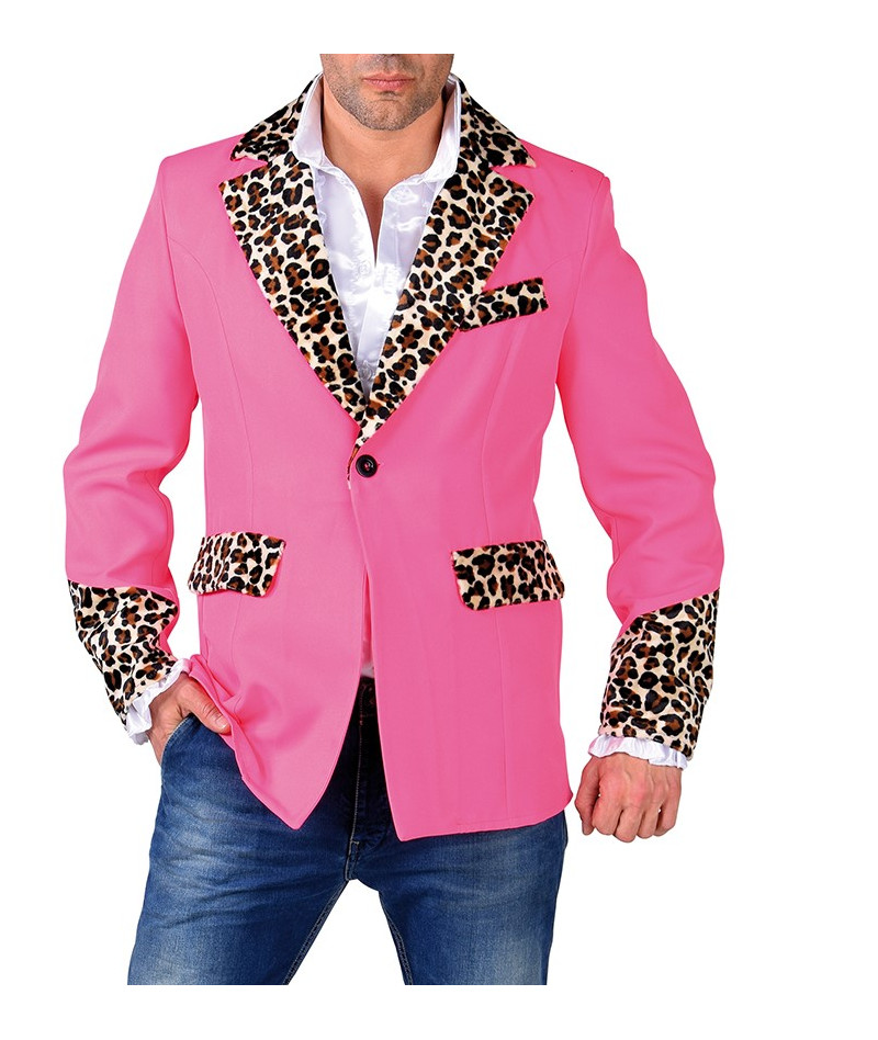 Giacca play boy leopardata