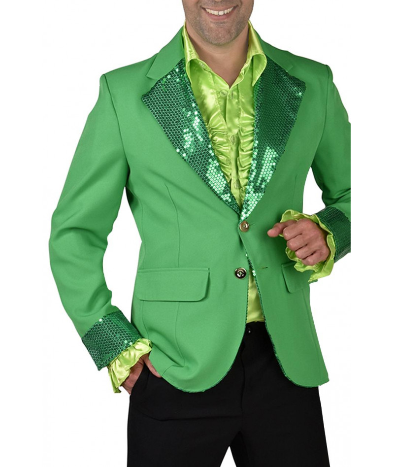 Giacca verde paillettes uomo