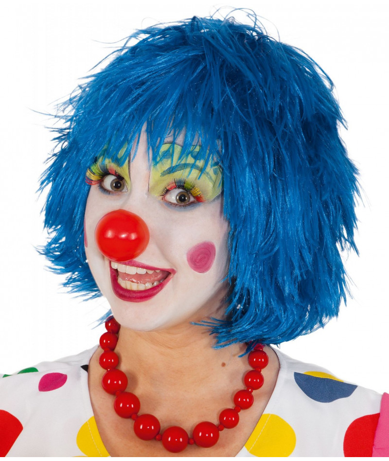 Parrucca clown blu