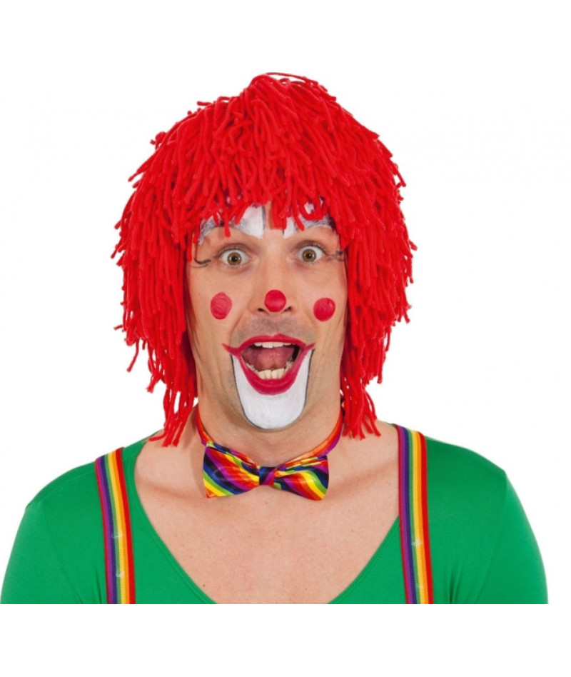 Parrucca clown lana rossa