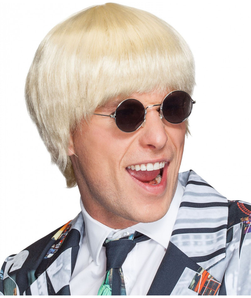 Parrucca uomo caschetto bionda
