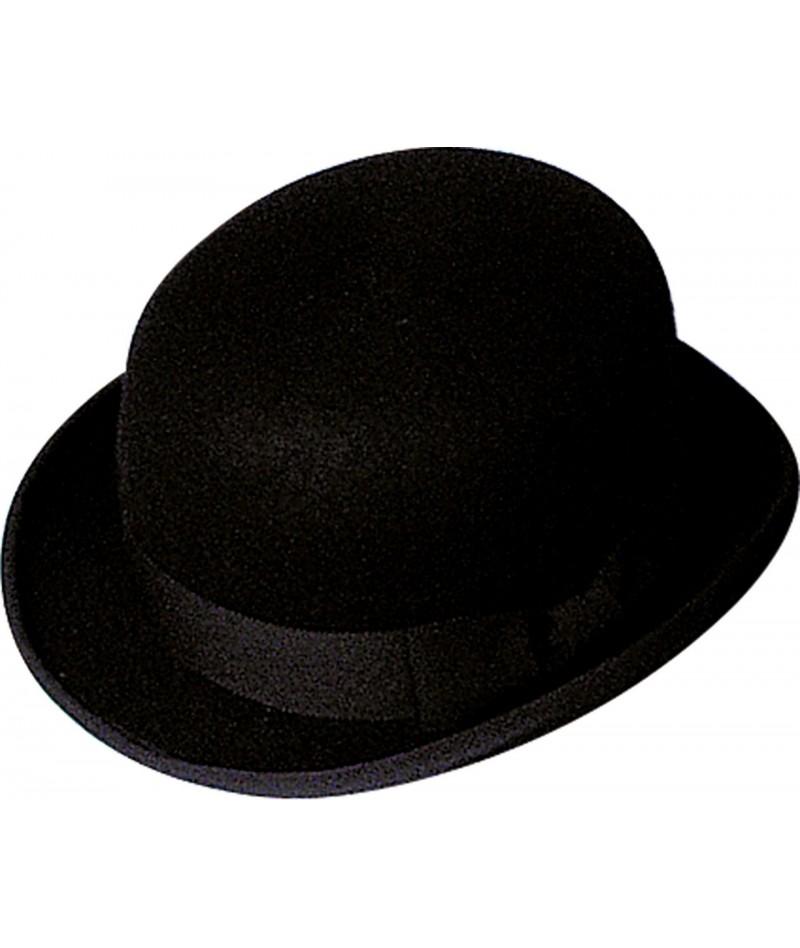 Bombetta nera in lana