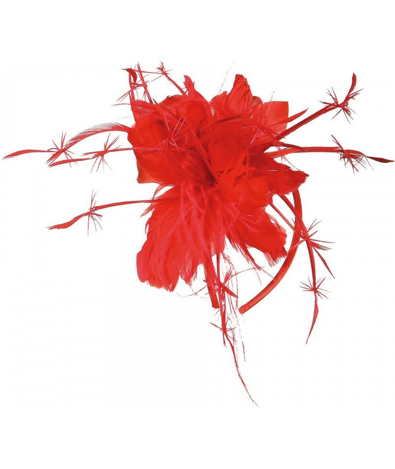 Cerchietto piume rosse